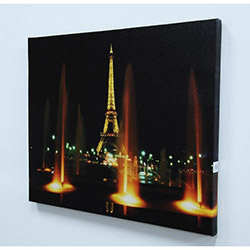 Paris Eyfel Kulesi Led Kanvas Tablo - 40 x 50 cm