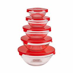 Colours in Kitchen 5 Parça Saklama Kabı - Kırmızı