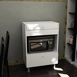 Just Home Lorenz Ekmeklikli Fırın Dolabı - Beyaz