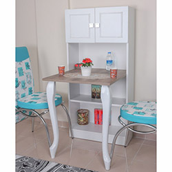 Adetto Remz Mutfak ve Balkon Masası - Beyaz / Patara