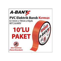 A-Bant 10'lu Elektrik Bandı - Kırmızı