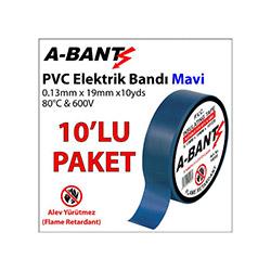 A-Bant 10'lu Elektrik Bandı - Mavi