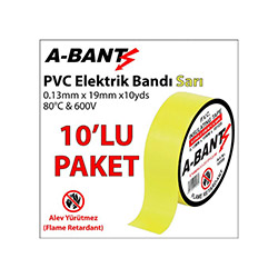 A-Bant 10'lu Elektrik Bandı - Sarı