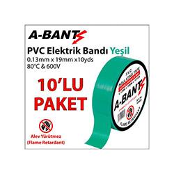 A-Bant 10'lu Elektrik Bandı - Yeşil