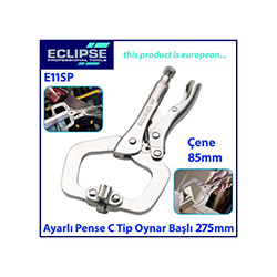 Eclipse E11Sp Ayarlı C Tip Klamp Oynak Uçlu Pense - 275 mm