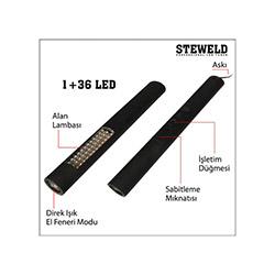 Steweld 568B Çift Fonksiyonlu Çalışma Işığı Ve El Feneri - 37 Led