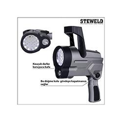 Steweld 994G Çift Işık Kaynaklı Led Projektör El Feneri