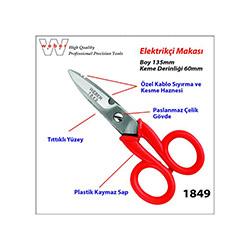 Weber 1849 Elektrikçi Makası - 135 mm