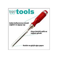 Weber Tools Ağaç Saplı İskarpela - 30x140 mm