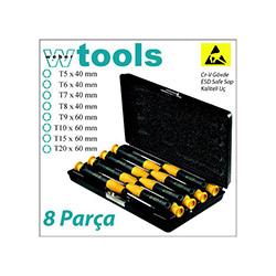 Weber Tools Antistatik Elektronikçi Torx 8 Parça Tornavida