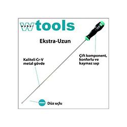 Weber Tools Extra Uzun Düz Uçlu Tornavida - 6.5x400 mm