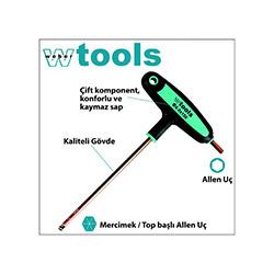 Weber Tools Top Başlı T Saplı Allen Tornavida -  3.0x100 mm