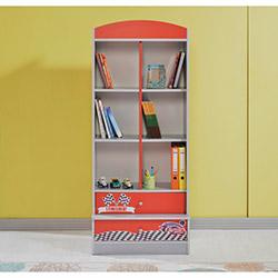 Dessenti Raza Genç Odası Kitaplık - Kırmızı