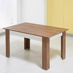 Desssenti Merzuka Yemek Masası - Kafkas Meşe / Beyaz