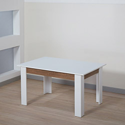 Dessenti Merzuka Yemek Masası - Beyaz / Kafkas Meşe