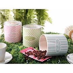Keramika Ege Primidin 3 Parça Saklama Kabı Seti - 12 cm