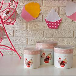 Keramika Pink Cake A 3 Parça Saklama Kabı Seti - 8 - 10 - 12 cm