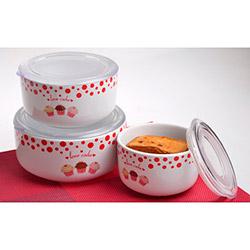 Keramika Fruit Cake A 3 Parça Kera Saklama Kabı Seti