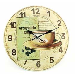 NB Sanat Vintage Le Café (A-3034) Duvar Saati - 30X30 cm