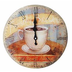 NB Sanat Vintage Le Café (470) Duvar Saati - 30x30 cm