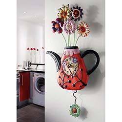 Allen Design Flower-Tea-Ful Clock Duvar Saati