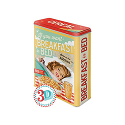 Nostalgic Art 30319 Breakfast İn Bed Teneke Kutu - 8x19 cm