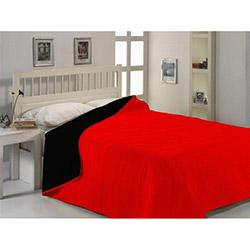 Fabress Micro Saten Çift Kişilik Yatak Örtüsü - Kırmızı/Siyah
