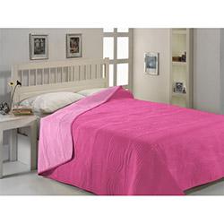 Fabress Düz Çift Kişilik Micro Saten Yatak Örtüsü - Fuşya/Pembe