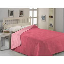 Fabress Düz Çift Kişilik Micro Saten Yatak Örtüsü - Somon/Rose