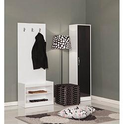 Modalife Napoli Vestiyer - Siyah / Beyaz