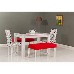 Modalife Hanımeli Masa Sandalye Takımı - Kırmızı