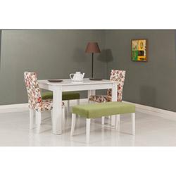 Modalife Hanımeli Masa Sandalye Takımı - Yeşil