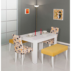 Modalife Hanımeli Masa Sandalye Takımı - Sarı