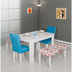 Modalife Hanımeli Masa Sandalye Takımı - Mavi