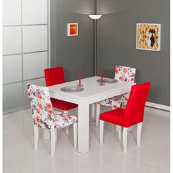 Modalife Manolya Masa Sandalye Seti - Kırmızı