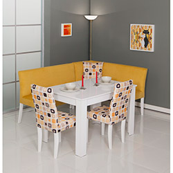 Modalife Nilüfer Mutfak Köşe Takımı - Sarı