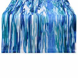 Aliz Runner Suluboya Masa Örtüsü (Mavi) - 40x140 cm
