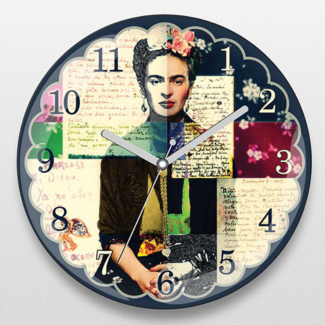 iF Clock DS14 Frida Kahlo Duvar Saati - 30x30 cm