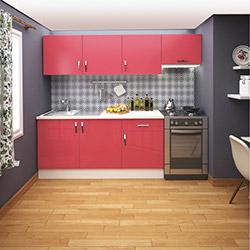 Fly Sofya Mutfak Dolabı - Kırmızı