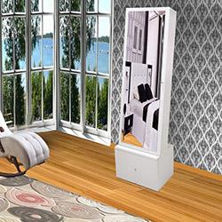 Just Home Happy  Aynalı Çekmeceli Takı ve Aksesuar Dolabı - Beyaz