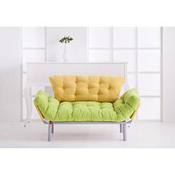 Futon Ege 2'li Kanepe - Yeşil / Sarı