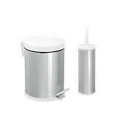 Dibanyo 958 Mikro Klozet Fırçalık + Çöp Kovası Seti - Beyaz