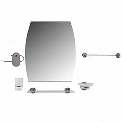 Dibanyo Manavgat Oval Aynalı 6'lı Banyo Seti