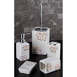 Gönül Porselen G11722F 5'li Banyo Seti - Altın