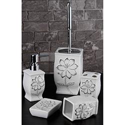 Gönül Porselen G11725F 5'li Banyo Seti - Beyaz