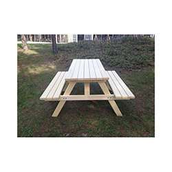 Garden Emprenyeli Şeffaf Piknik Masası - 6 Kişilik