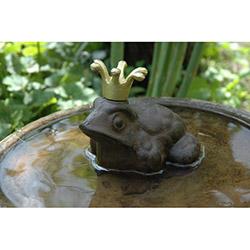 House2Home BT-H2HTT10 Antik Döküm Kurbağa Kral Bahçe Süsü
