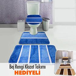 Comfort 3'lü Klozet Takımı (1 Alana 1 Bedava) - Mavi