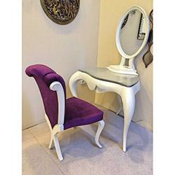 ByJakar Aynalı Makyaj Masası - Gri / Beyaz