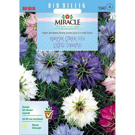Miracle Karışık Renkli Çörek Otu Çiçeği Tohumu - 850 Tohum